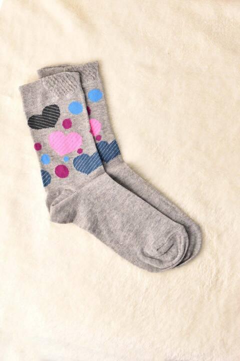 Σετ γυναικείες κάλτσες - Γκρι Μελανζ