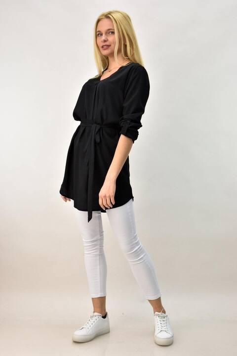 Γυναικείο φόρεμα πουκάμισο  - Μαύρο