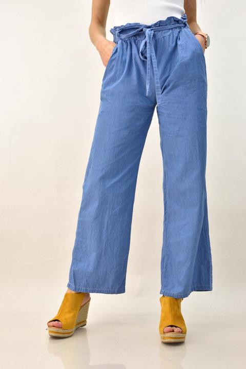 Γυναικείο παντελόνι τύπου τζιν - Γαλάζιο