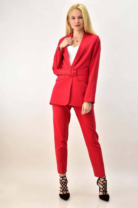 Γυναικείο σετ κουστούμι - Κόκκινο