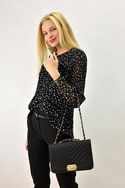 Γυναικείο πουκάμισο πουα - Μαύρο
