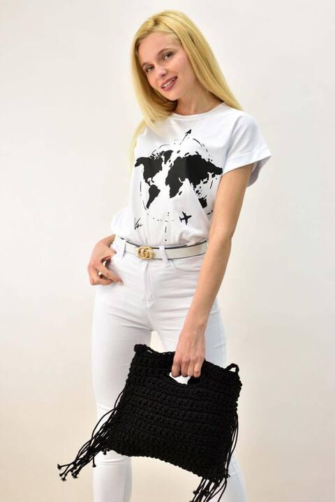 Γυναικείo T-shirt - Λευκό
