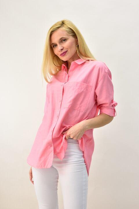 Γυναικείο πουκάμισο - Ροζ