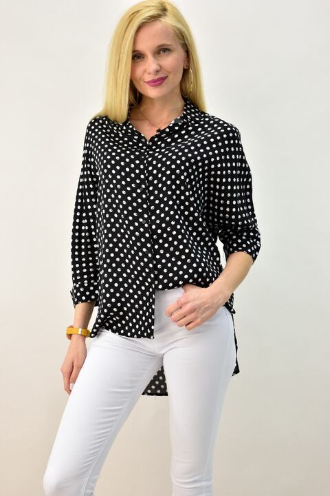 Γυναικείο πουκάμισο - Μαύρο