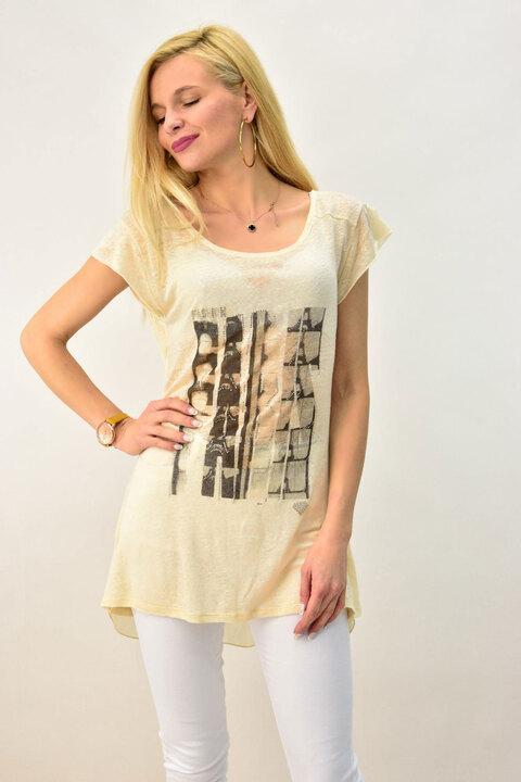 Γυναικεία μπλούζα αέρινη - Μπεζ