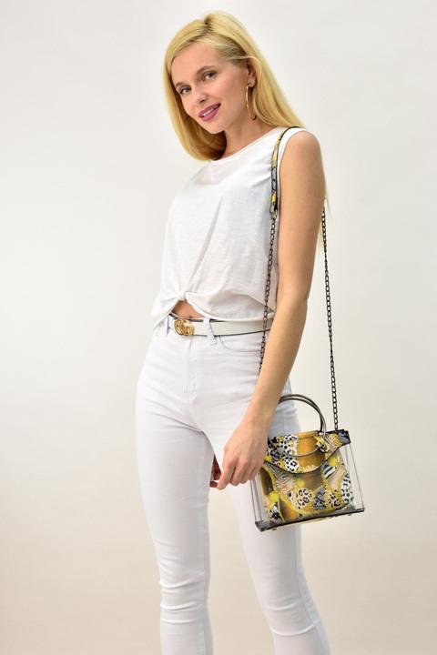 Γυναικεία μπλούζαμε κόμπο - Λευκό