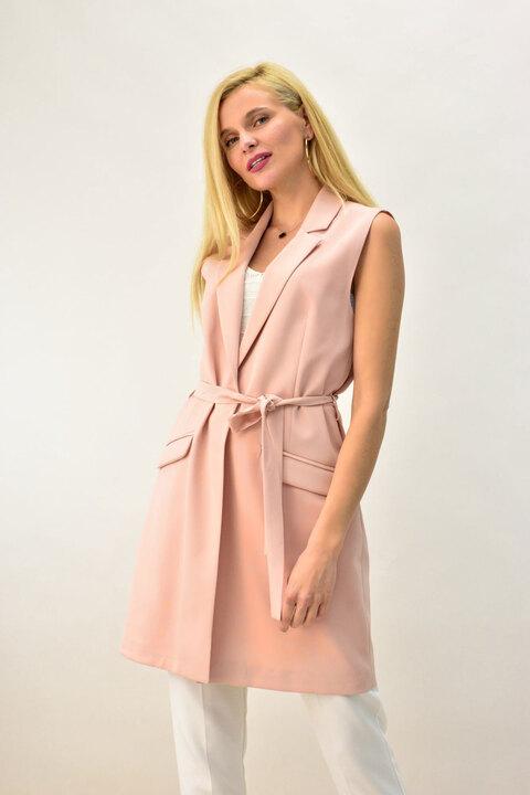 Γυναικείο σακάκι αμάνικο - Ροζ