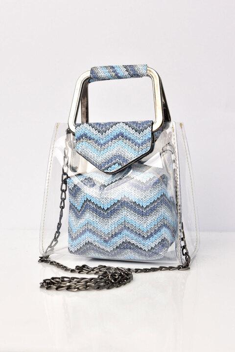 Τσάντα με διαφάνεια - Γαλάζιο