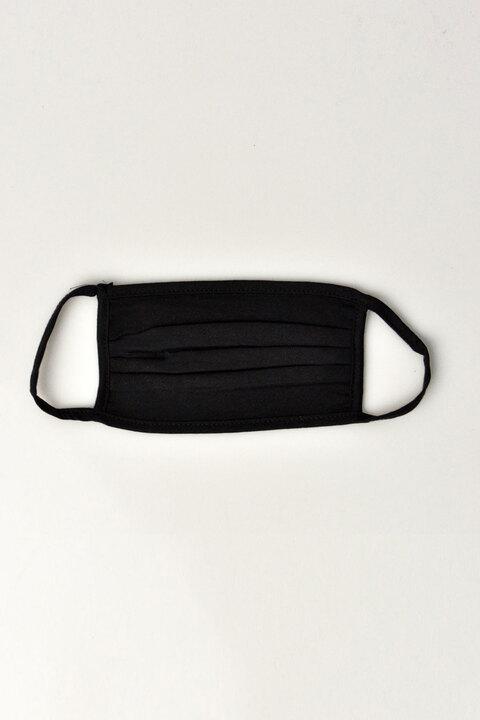 (Σετ 2 τεμαχίων) Μάσκα προστασίας υφασμάτινη 100% βαμβάκι - Μαύρο