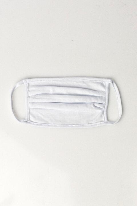 (Σετ 2 τεμαχίων) Μάσκα προστασίας υφασμάτινη 100% βαμβάκι - Λευκό