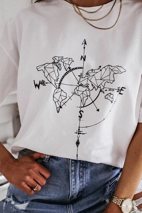 T-shirt με τύπωμα - Λευκό