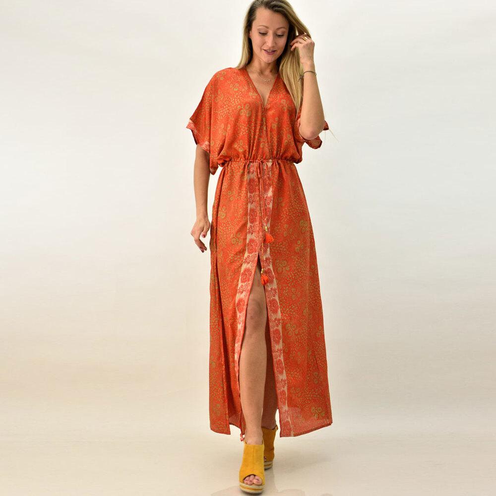 Γυναικείο μπόχο κρουαζέ φόρεμα