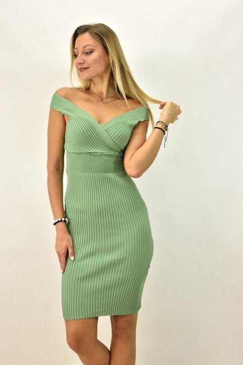 Γυναικείο φόρεμα εφαρμοστό - Πράσινο