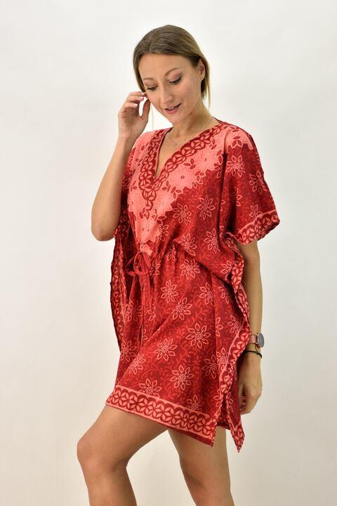 Γυναικείο καφτάνι  - Κόκκινο