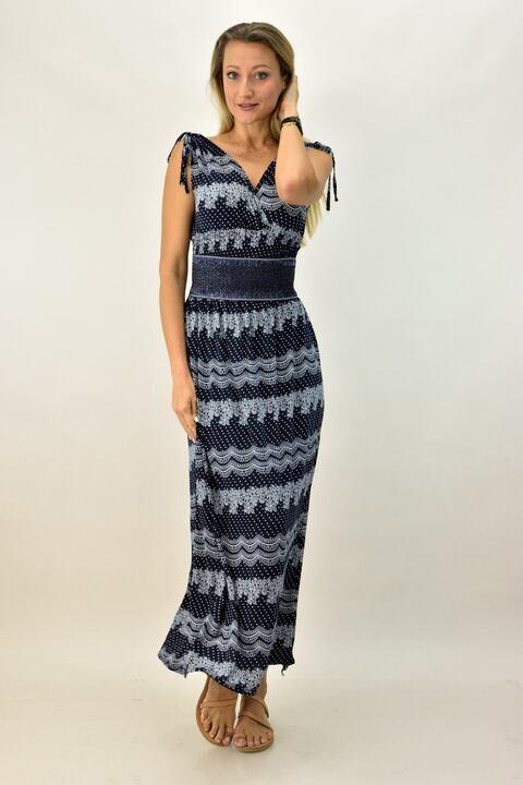 Γυναικέιο φόρεμα μακρύ - Μπλε Σκούρο