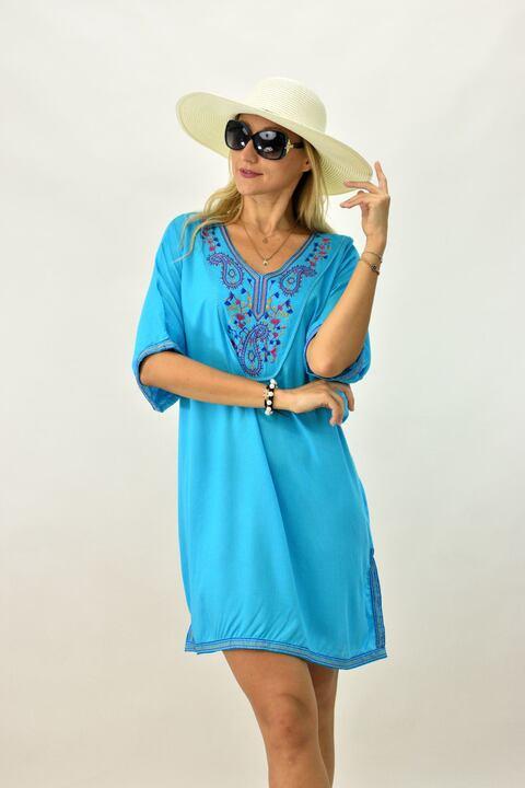 Γυναικείο καφτάνι - Γαλάζιο