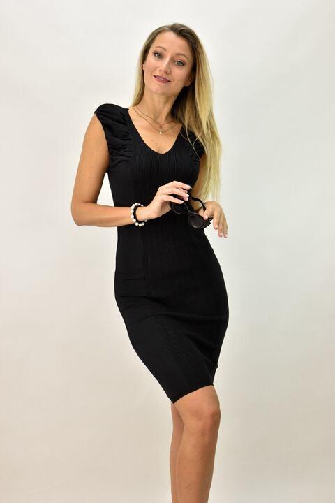 Γυναικείο εφαρμοστό φόρεμα - Μαύρο