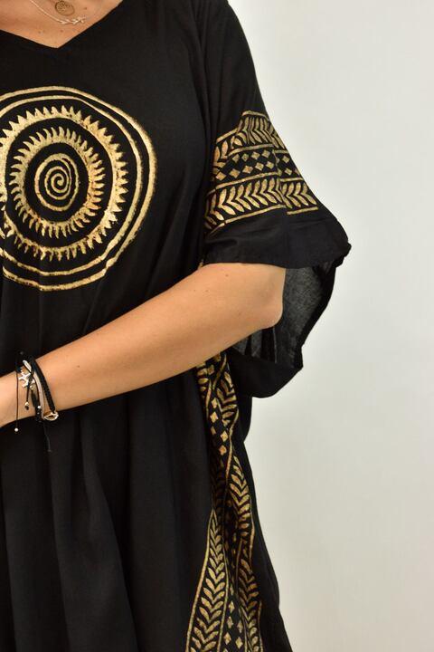 Γυναικείο καφτάνι αρχαιοελληνικό - Μαύρο