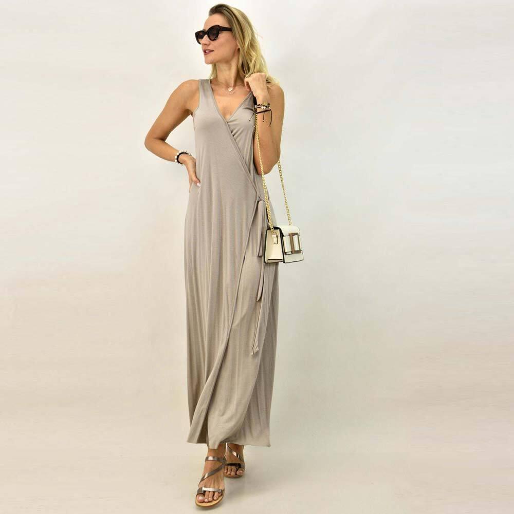 Maxi φόρεμα με ζώνη