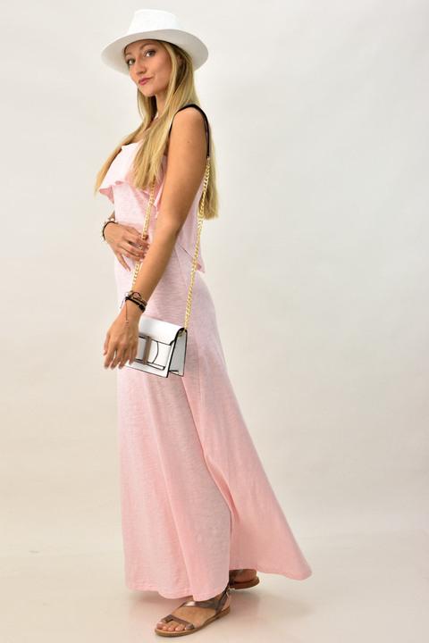 Γυναικέιο φόρεμα μακρύ - Ροζ