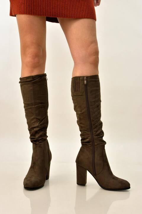 Γυναικειές μπότες suede  - Καφέ