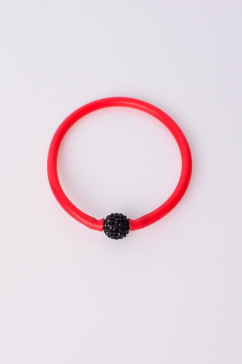 Γυναικείο βραχιόλι με σχεδιο χάντρα - Κόκκινο