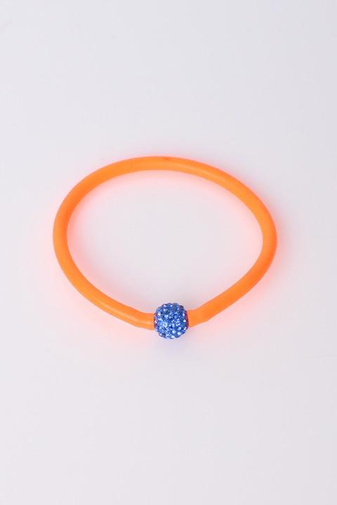Γυναικείο βραχιόλι με σχεδιο χάντρα - Πορτοκαλί