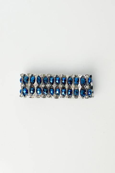 Γυναικείο βραχιόλι με στρας και χάντρες - Μπλε