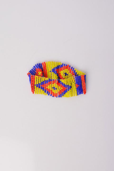 Γυναικείο έθνικ βραχιόλι  - Κίτρινο