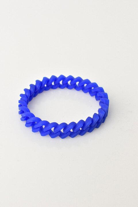Γυναικείο βραχιόλι καουτσούκ μονόχρωμο - Μπλε