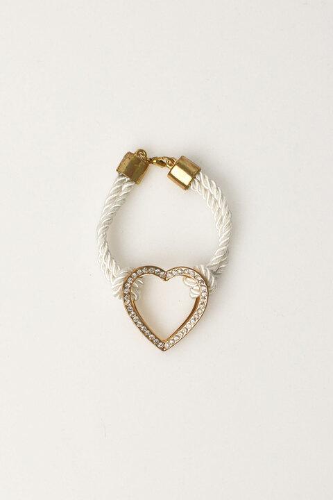 Γυναικείο βραχιόλι με σχέδιο χρυσή καρδιά - Λευκό