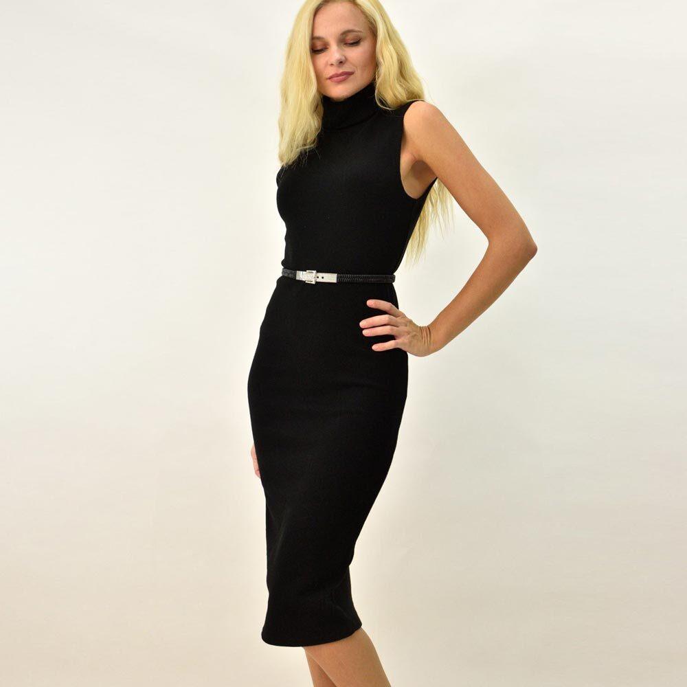 Γυναικείο φόρεμα αμάνικο με ζιβάγκο