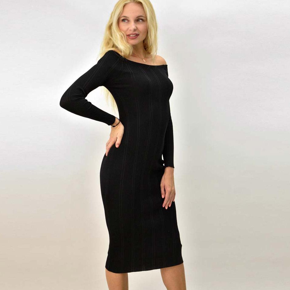 Γυναικείο φόρεμα εφαρμοστό ριπ με σχέδιο