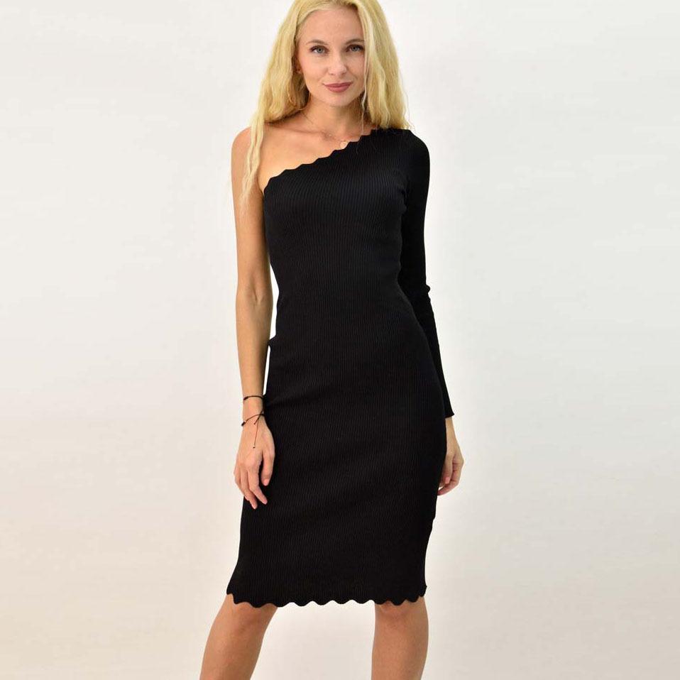 Γυναικείο φόρεμα εφαρμοστό με έναν ώμο
