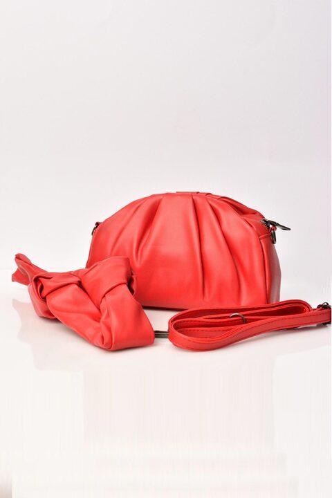 Γυναικεία τσάντα δερματίνη - Κόκκινο