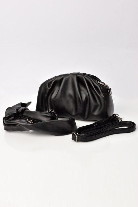 Γυναικεία τσάντα δερματίνη - Μαύρο