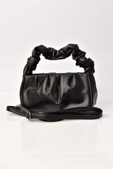 Γυναικεία τσάντα από δερματίνη - Μαύρο
