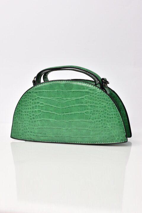 Γυναικείο τσαντάκι ώμου κροκό - Πράσινο