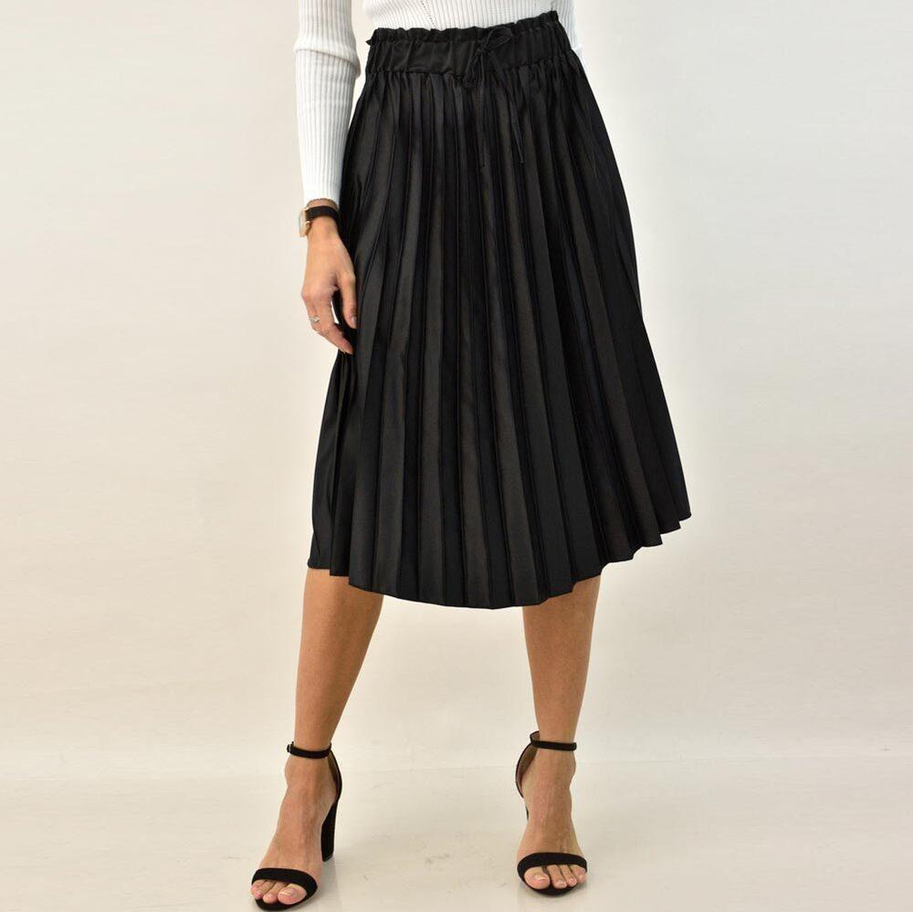 Γυναικεία φούστα midi πλισέ