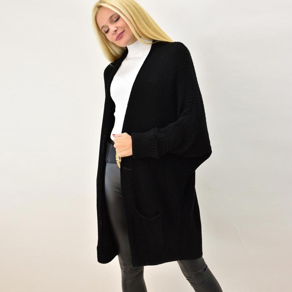 Γυναικεία πλεκτή ζακέτα oversized