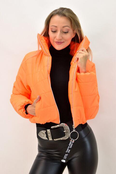 Γυναικείο μπουφάν bomber - Πορτοκαλί