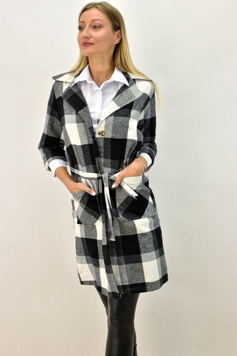 Γυναικείο λεπτό παλτό - Μαύρο