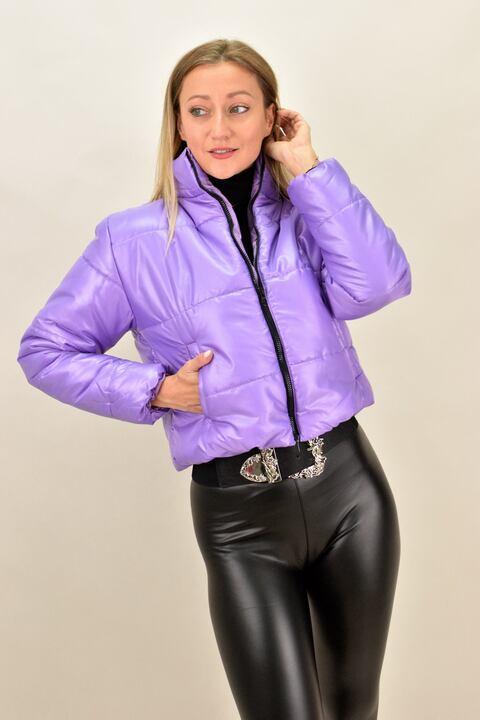 Γυναικείο μπουφάν bomber - Λιλά