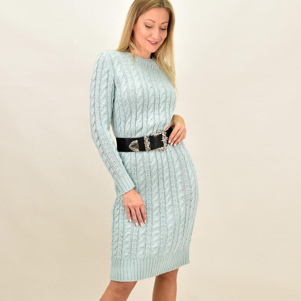 Γυναικείο μίντι πλεκτό φόρεμα
