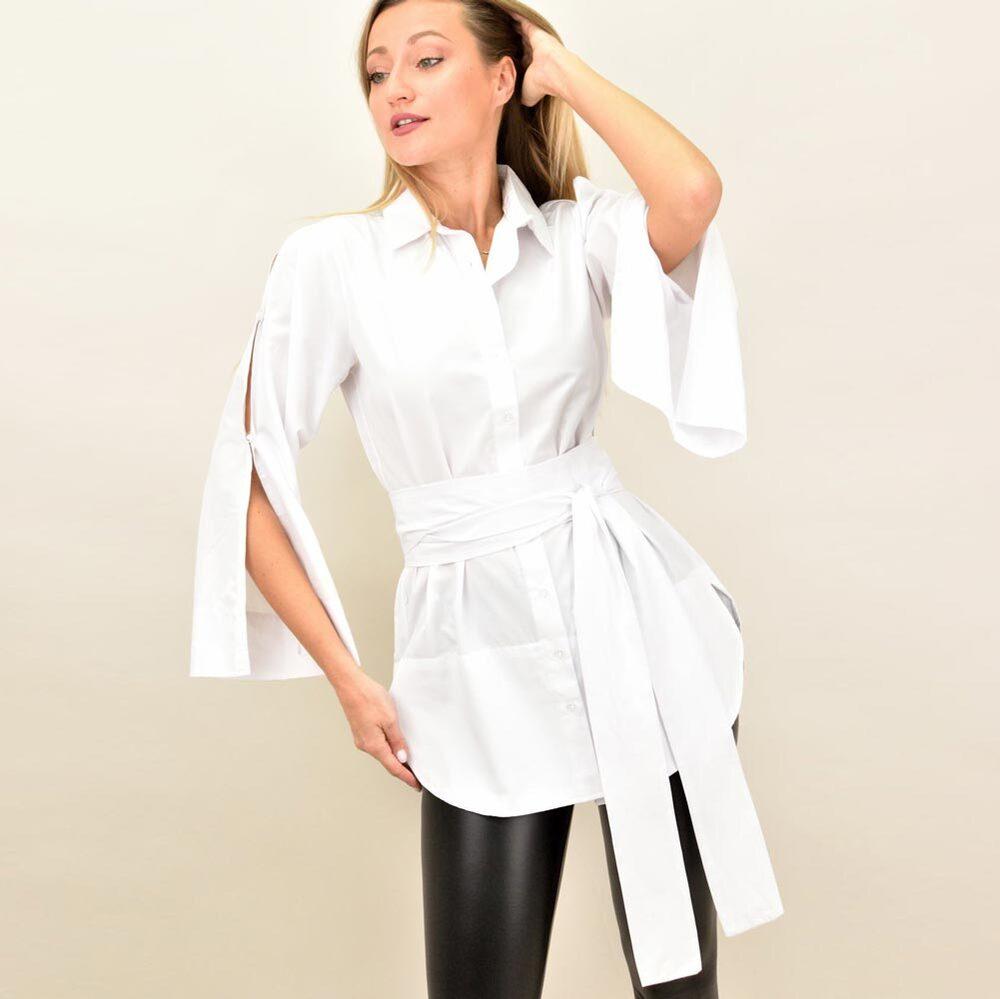 Γυναικέιο πουκάμισο με ζώνη