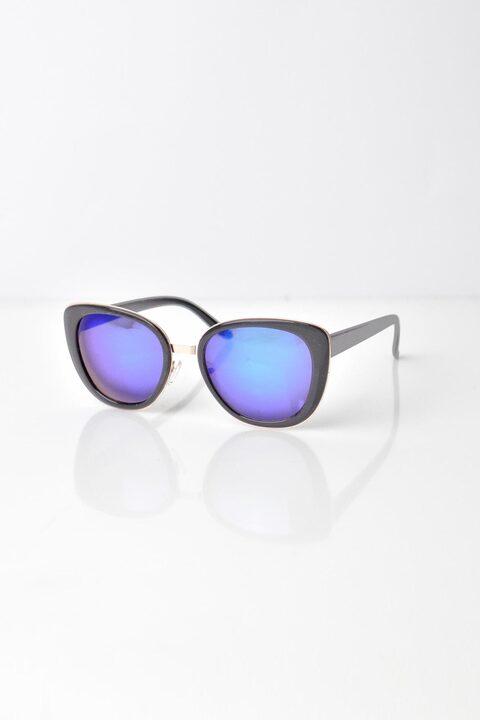 Γυναικεία γυαλιά ηλίου με χρυσό περίγραμμα - Μαύρο