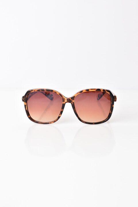 Γυναικεία γυαλιά ηλίου με στρογγυλό λεοπάρ σκελετό  - Animal Print
