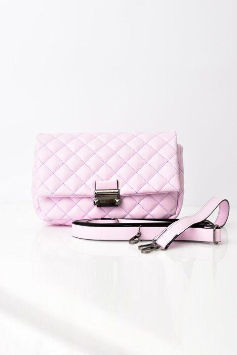 Γυναικεία τσάντα ώμου - Απαλό Ροζ
