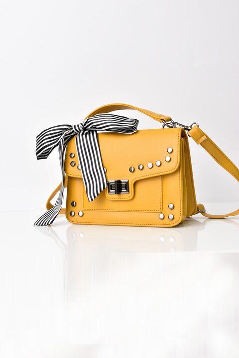 Γυναικεία τσάντα ώμου και χείρος - Κίτρινο
