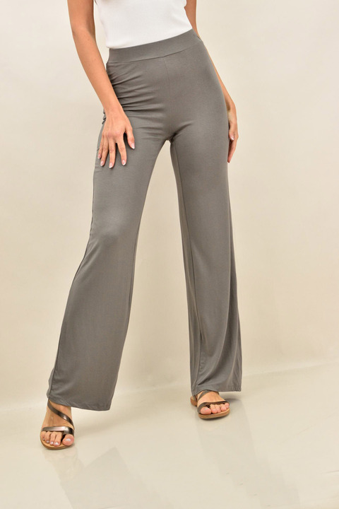 Μονόχρωμη παντελόνα μεγάλα μεγέθη - Γκρι